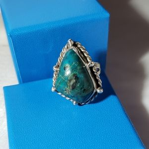 Size 7 ring sterling silver with Turquoise stone